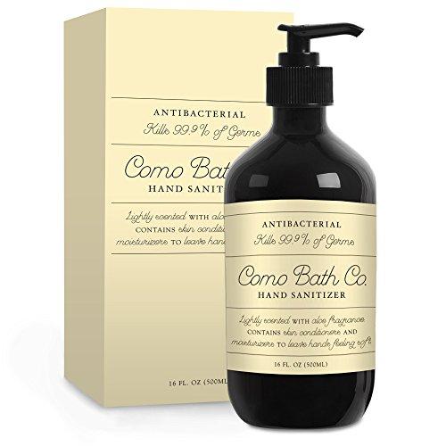 Como Bath Co. Alcohol Free Hand Sanitizer Antibacterial Gel with Aloe Vera (Economy Gel Foam)