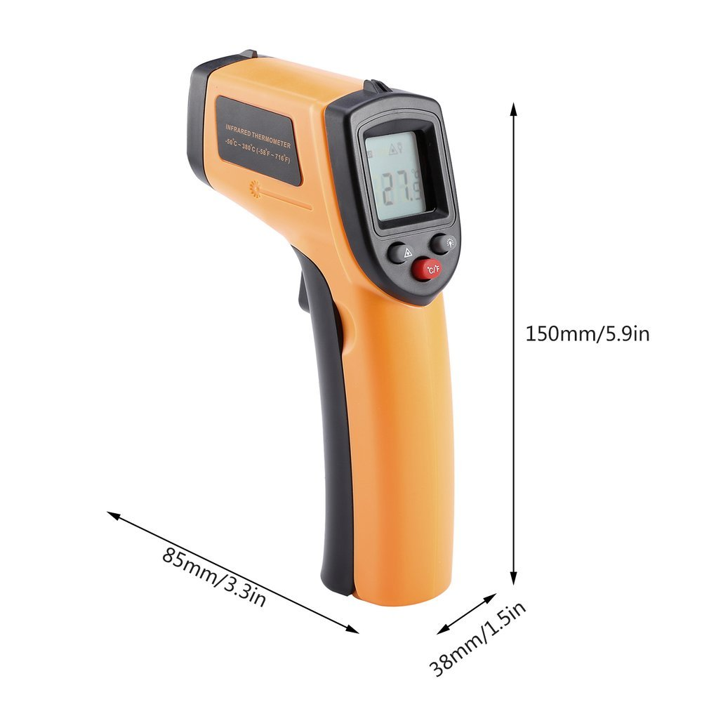 GAEA Non-contact LCD Laser Infrared Digital Temperature Gun -50~380℃(-58~716℉), Instant-read Handheld IR Infrared Thermometer with Backlight by GAEA (Image #7)