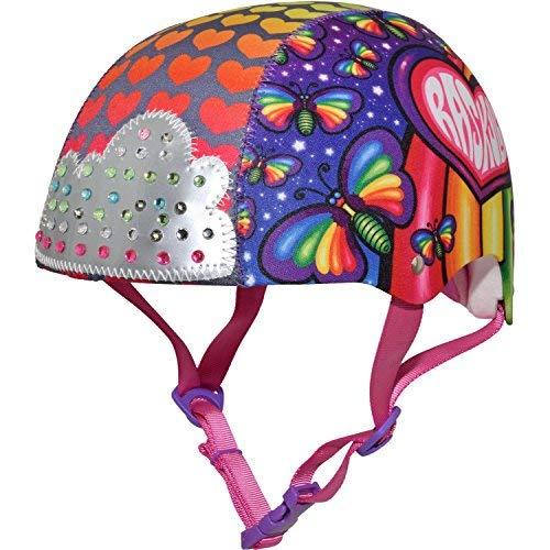 Raskullz Rainbow Butterflies Sparklez Child Bike Helmet Age 5-8 Blinking Light Up Gems