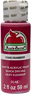 Apple Barrel Acrylic Paint in Assorted Colors (2 oz), 21380, Cranberry