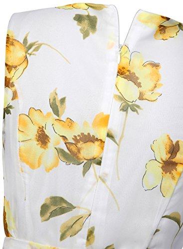 Futurino - Vestido - trapecio - para mujer Gelb Flower