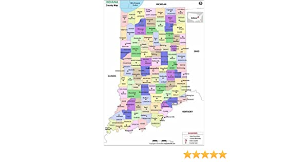 Indiana County Map (36
