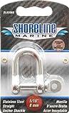 Shoreline Marine Stainlesss Steel Shackle Straight, 5/16-Inch (316)