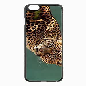 iPhone 6 Plus Black Hardshell Case 5.5inch - leopard predator cat Desin Images Protector Back Cover