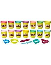 Play-Doh Knåda för prinsessor, med sex glitterfärger och sex knådningsverktyg, knådning för fantasifullt och kreativt spel