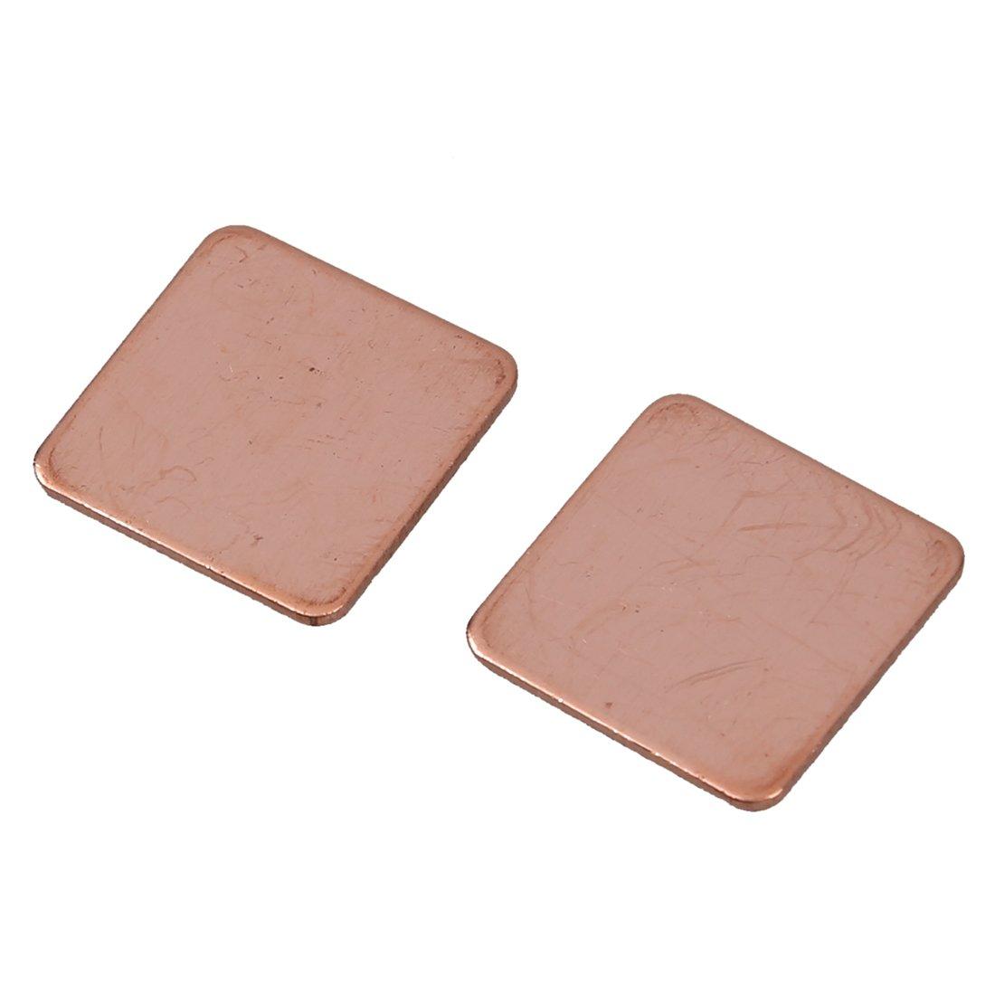 SODIAL(R) 2 x 0.8mm Thick Heatsink Thermal Pad Copper Shim for Laptop CPU GPU