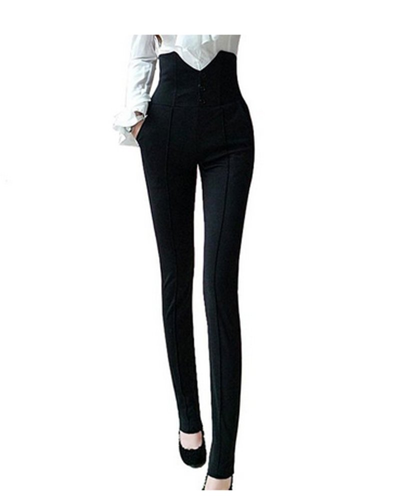 Luckcart Women's High Waist Stretch Skinny Leggings Pencil Pants Trousers Slim Fit (Size S    25)