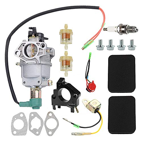 Hayskill EB5000X Carburetor Carb w Air Filter Tune Up Kit Fuel Gasket Insulator Spark Plug for Honda EB5000X EB6500X EB6500SX EM5000SX EM5000X EW171 EM5000S Generator