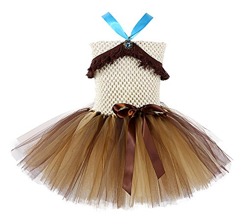 Tutu Dreams Native American Indian Princess Costume for Teen Girls Brown with Tassel (Pocahontas, XL) -