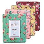 WarmHut Instax Album, Vintage Flower Floral Mini Photo Album, for Fuji Fujifilm Instax Mini 8 7s 25 50s 90 Polaroid, 3-inch Business Credit Name Card Holder with 64Pockets Slots
