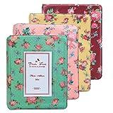 WarmHut Instax Album Set, Bundles Set of 4 Vintage Flower Floral Mini Photo Album, for Fuji Fujifilm Instax Mini 8 90 Polaroid, 3-inch Business Credit Name Card Holder with 64 Pockets Slots (4PCS)