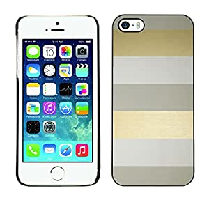 Soft Silicone Rubber Case Hard Cover Protective Accessory Compatible with Apple iPhone? 5 & 5S - stripes lines grey minimalist clean