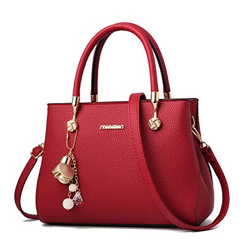 Shopping Piccola Borsa Pelle Bag Borsa Femminile Lavoro Pelle Tracolla Borsa PU Borsa In Viaggio In Bag Da Da Grande Borsa Borsa Capacità Messenger FLHT Red Donna Cosmetici YCw1Tnx