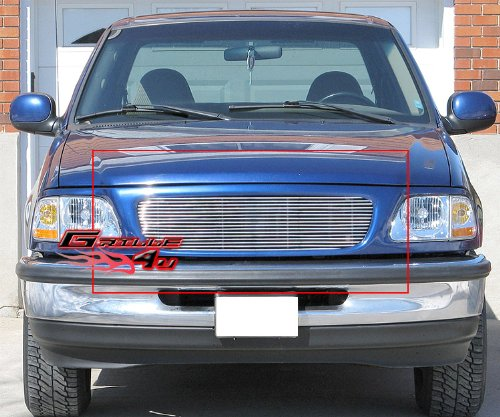 APS F85029A Polished Aluminum Billet Grille Replacement for select Ford Expedition Models 1998 Ford Expedition Grille