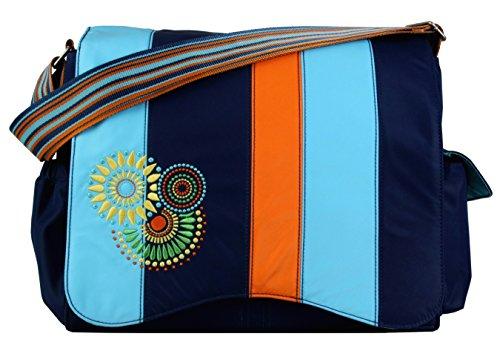 Diaper Bag Blue Circles - Kalencom Jazz Collection, Magical Circles/Blue Blocks