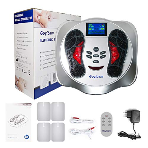 Foot Circulation Massage Machine, Medic Foot Muscle Stimulator EMS Feet Health Device for Neuropathy, Relieve Feet, Legs & Ankles Pain, Relaxes and Massages Body (EMS Foot Massager)