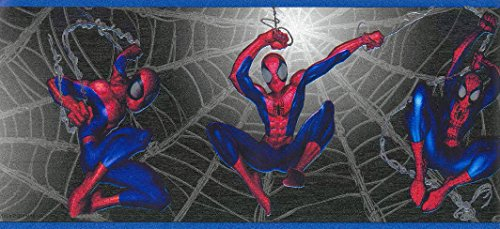 Marvel BZ9109B Spiderman Web Wallpaper - Marvel Comic Wall Border, BZ9109B