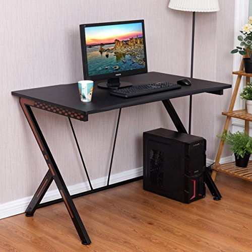 Gaming Desk Computer Desk PC Laptop Table Workstation Home Office Ergonomic New by Apontus