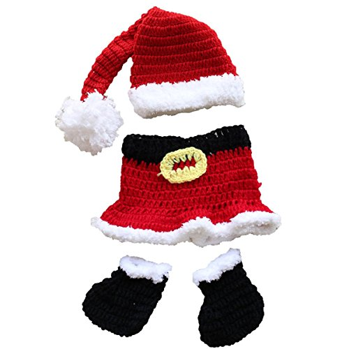 [Genluna Infant Newborn Santa Claus Knitted Shorts Set Photography Prop Outfits Christmas Suit] (Cute Santa Outfits)