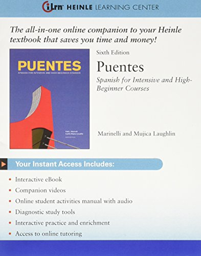 iLrn Puentes Heinle Learning Center 1 term (6 months) Printed Access Card