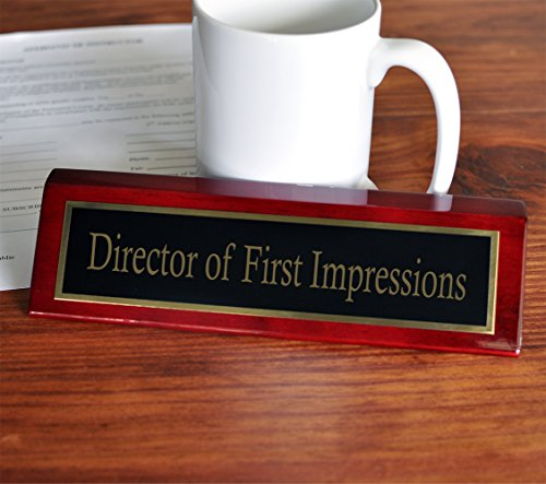 Director of First Impressions Desk Plate | 2 x 8 Desk Plate