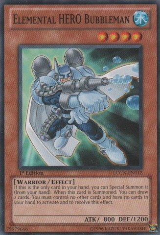 Yu-Gi-Oh! - Elemental HERO Bubbleman (LCGX-EN012) - Legendary Collection 2 - 1st Edition - Common (Hero Collection Elemental)