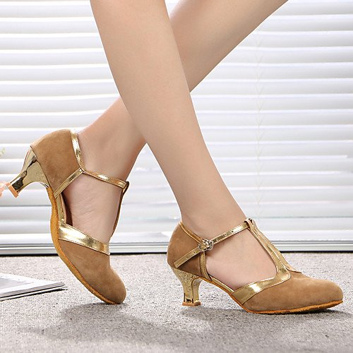T Modern Patent Indoor Heels Leather Suede Heel skin T Dance Stiletto Q skin Shoes 1dXwCq