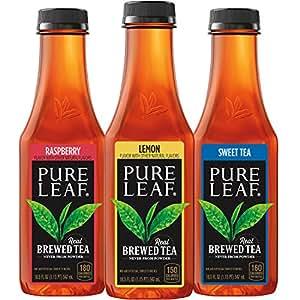 Pure Leaf Iced Tea, Sweetened Variety Pack, Real Brewed Black Tea, 18.5 Ounce Bottles (Pack of 12)