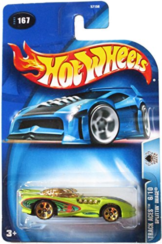 Hot Wheels Track Aces 6/10 Splittin' Image 2003 #167 Antifreeze Color on Card Variation
