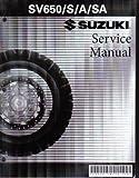 99500-36126-03E 2003-2009 Suzuki SV650 Motorcycle Service Manual