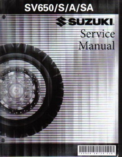 Download 99500-36126-03E 2003-2009 Suzuki SV650 Motorcycle Service Manual pdf