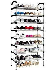 Rerii Shoe Organizers Rack, Shoes Storage Shelf for Entryway Door Closet, Shoes Tower Cabinet for Kids Women Men