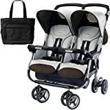 Peg Perego 2011 Aria Twin 60 40 with a Diaper Bag – Java, Baby & Kids Zone