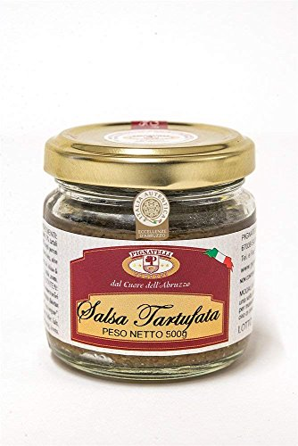 Truffle sauce 500g - Ingredients: mushrooms, summer truffles 3%, extra virgin olive oil, black olives, vegetables, anchovies, spices, pepper, salt and aromas - (DF13)