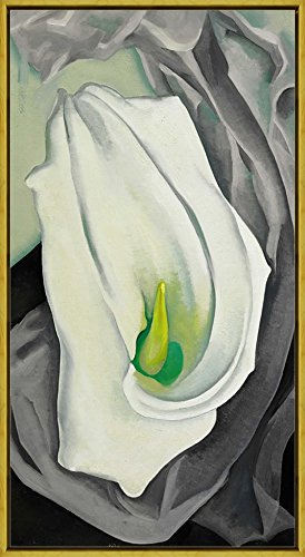 Georgia Okeeffe Calla Lily - Berkin Arts Framed Georgia O'Keeffe Giclee Canvas Print Paintings Poster Reproduction (White Calla Lily)