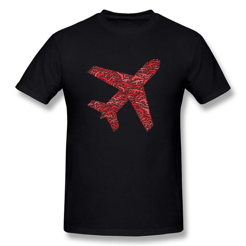 Swarz Men's Airplane Gun AK 47 100% Cotton Creativity Short Sleeve Black T Shirt