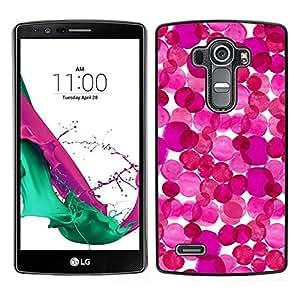 Caucho caso de Shell duro de la cubierta de accesorios de protección BY RAYDREAMMM - LG G4 - Arte púrpura abstracto blanco floral