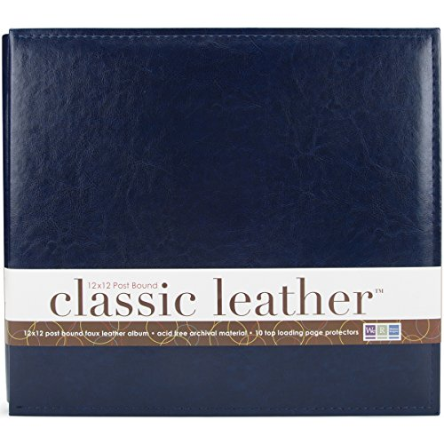 We R Classic Leather Postbound Album 12x12-Navy
