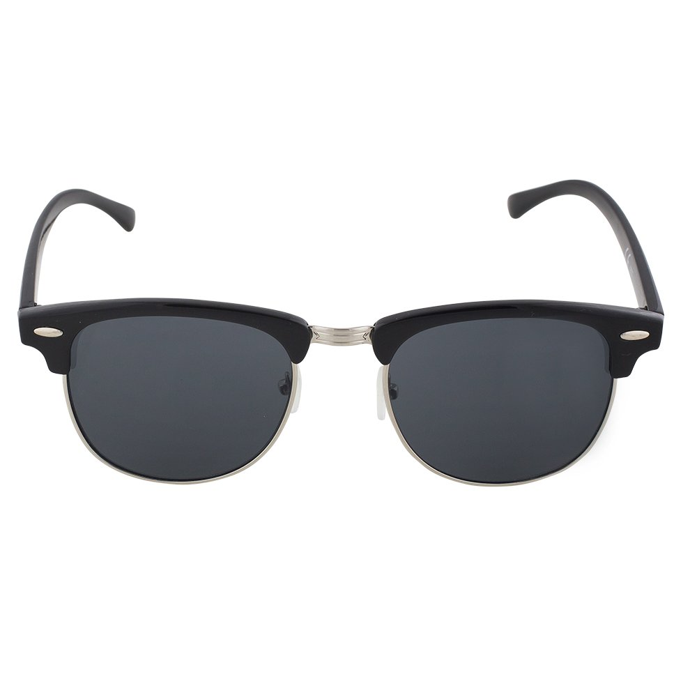 788c65931c Amazon.com  Clubmaster Sunglasses - Black Plastic   Metal Frame With Smoke  Lenses - UV Ray Protected Shades For Men   Women - By Optix 55  Clothing