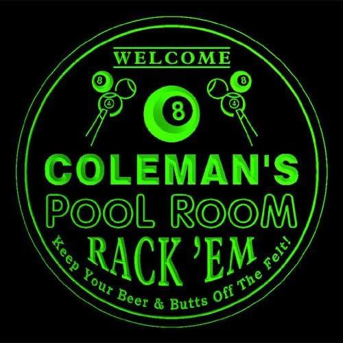 4 x ccpy1082-g Coleman de cerveza de sala de billar 3D prácticos ...