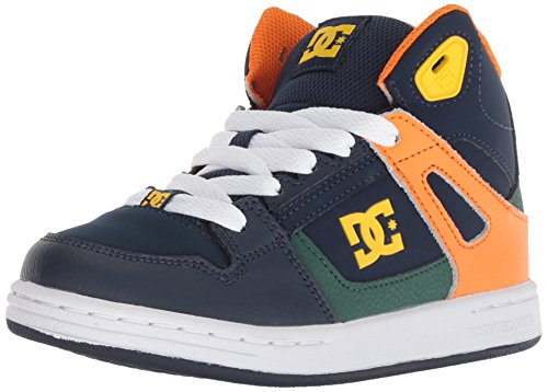 DC Boys' Pure HIGH-TOP Skate Shoe Multi 2 M US Little Kid ()