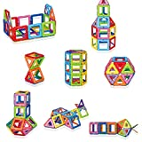 Magnetic-Building-Blocks-W-LED-Set-Of-72-Pieces-By-MagLight-Magnet-Tiles-For-Toddler-With-7-Colors-Flashing-LED-Light-Stick-N-Stack-Construction-Playboards-Educational-Learning-Kit-For-Preschool
