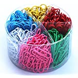 Assorted Colors Paper Clips Medium and Jumbo Size, 450 Pieces (28 mm, 50 mm)