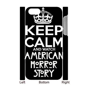 wugdiy New Fashion Hard Back Cover 3D Case for iPhone 4,4S with New Printed American Horror Story