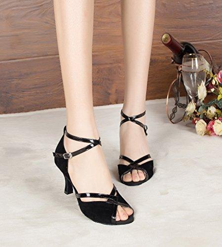 Black Dance Latin Satin Women's Fashion Shoes Evening Shoes Kevin New wqBzBO