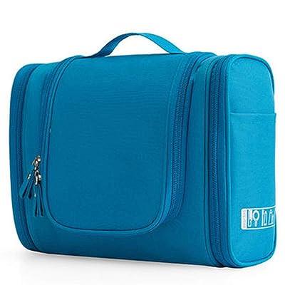 ZXMDP Bolsa de cosméticos Colgante Impermeable Bolsa de cosméticos Unisex de Gran Capacidad Bolsa de cosméticos portátil de Viaje Set Bolsa de Almacenamiento,Azul,24.5 * 20.5 * 10CM: Hogar