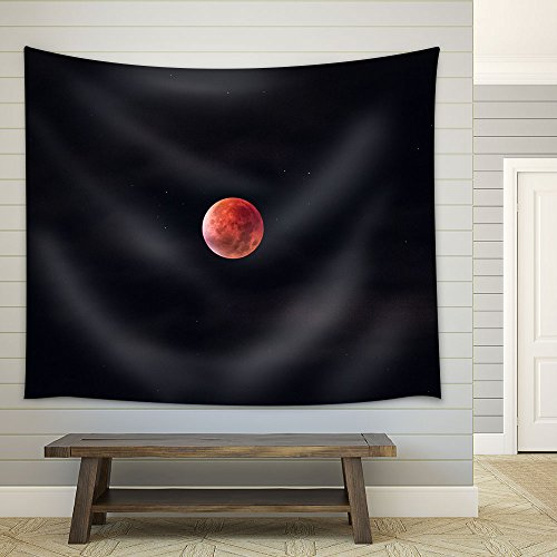 Full Moon Stars in the Dark Night Fabric Wall