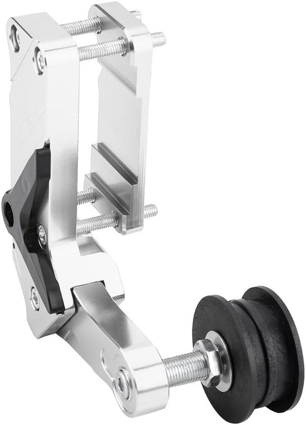 KIMISS Tensor de cadena de la motocicleta, CNC Ajustador de cadena de longitud de enlace Herramienta universal de aleación de aluminio modificada para la motocicleta ATV(Plata)
