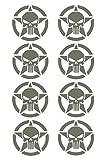 Gry Army Star Punisher Skull 8-pack Decal Vinyl Sticker Cars Trucks Walls Laptop GRAY 2 X 2 In URI475