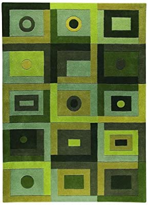 Green Rug W Patchwork Pattern (8 ft. x 11 ft.6in.)